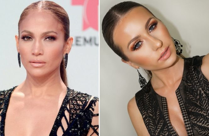 Jennifer Lopez Billboard Inspired Bronzy Makeup Look