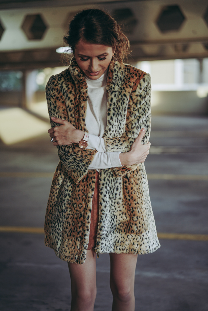 Cheetah faux-fur