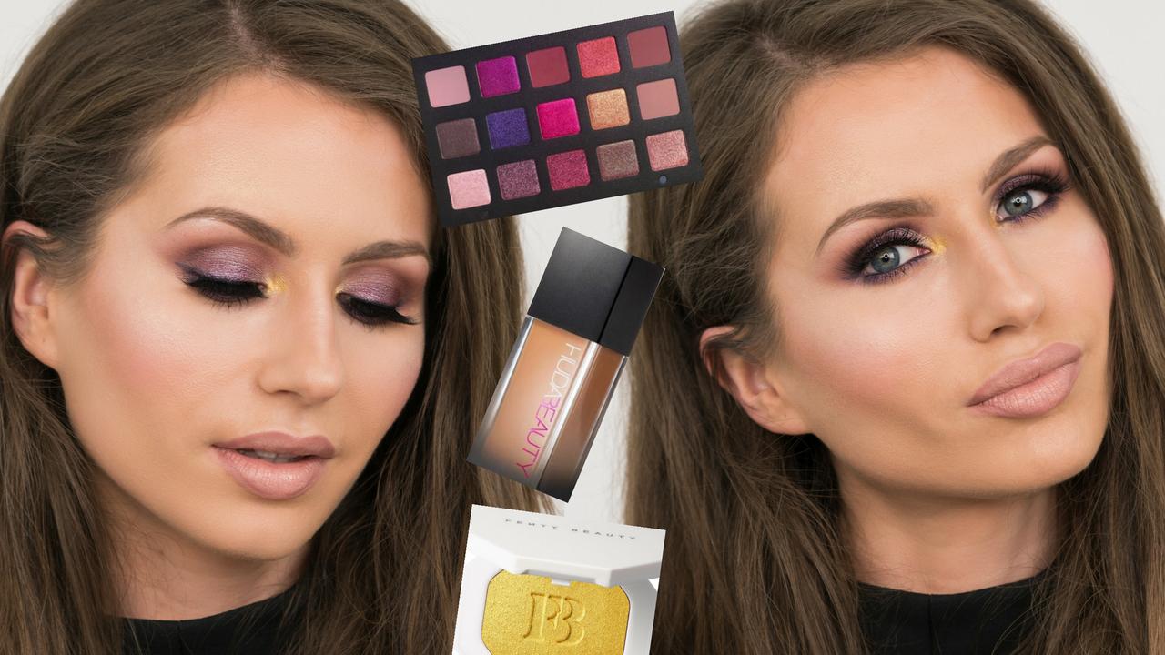 Fall Makeup Tutorial Featuring Natasha Denona Lila Palette Huda Beaty Faux Filter Foundation Fenty Beauty Bykatiness